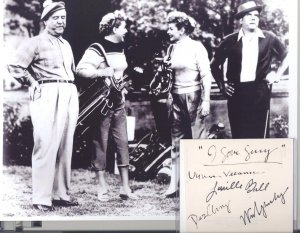 The Lucy Show Cast, hand signed Autograph Page: Ball,  Vance, Arnaz, ,  Frawley; COA UACC.