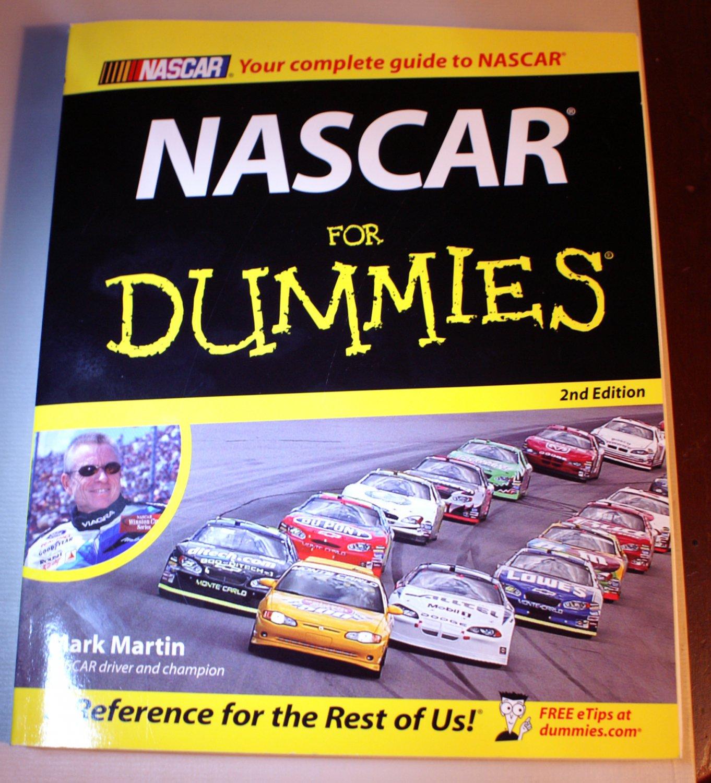 NASCAR for Dummies Mark Martin 2nd edition  LIKE NEW