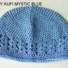 Blue Kufi Crochet Infant Hat