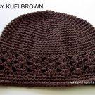 Brown Kufi Crochet Toddler Hat