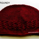 Burgundy Kufi Crochet Toddler Hat