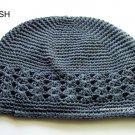 Dark Grey Kufi Crochet Toddler Hat