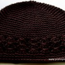 Dark Brown Kufi Crochet Toddler Hat