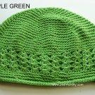 Green Kufi Crochet Infant Hat
