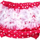 Hot Pink & White Polka Dot Ruffle Bloomer
