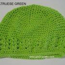 Kelly Green Kufi Crochet Infant Hat