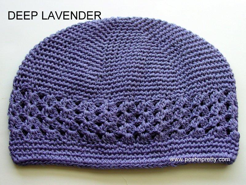 Lavender Kufi Crochet Infant Hat