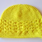 Lemon Yellow Kufi Crochet Toddler Hat