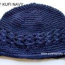 Navy Blue Kufi Crochet Toddler Hat