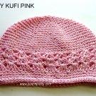 Pink Kufi Crochet Toddler Hat