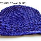 Royal Blue Kufi Crochet Infant Hat