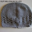 Silver Kufi Crochet Toddler Hat