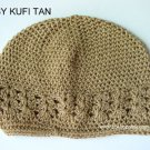 Tan Kufi Crochet Infant Hat