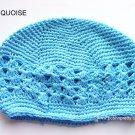 Turquoise Kufi Crochet Infant Hat