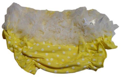 Yellow & White Polka Dot Ruffle Bloomers