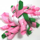 Light Pink & Kelly Green Korker Bow