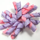 Lavender & Light Pink Korker Bow