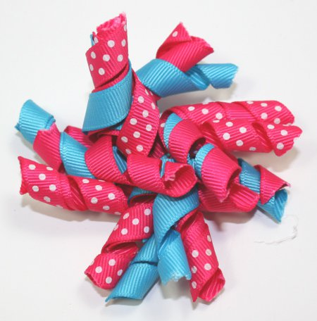 Hot Pink & Turquoise Korker Bow
