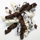 Chocolate & Ivory Korker Bow