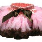 Two-Tone Lt Pink & Chocolate Petti Skirt (small)