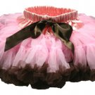 Two-Tone Lt Pink & Chocolate Petti Skirt (Large)