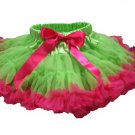 Two-Tone Lime & Hot PInk Petti Skirt (small)