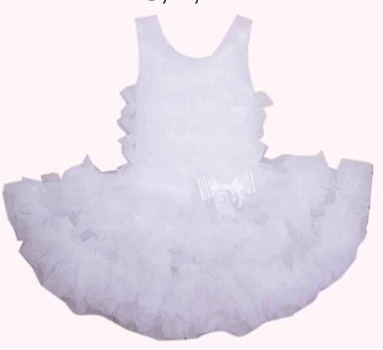 White Full Ruffle Pettidress (24month)