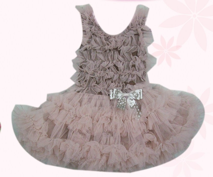Mocha Full Ruffle Pettidress (18month)
