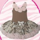 Leopard Pettidress with Petti Flower Neckline (medium)