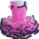 Hot Pink & Black Ribbon Dress (Medium)
