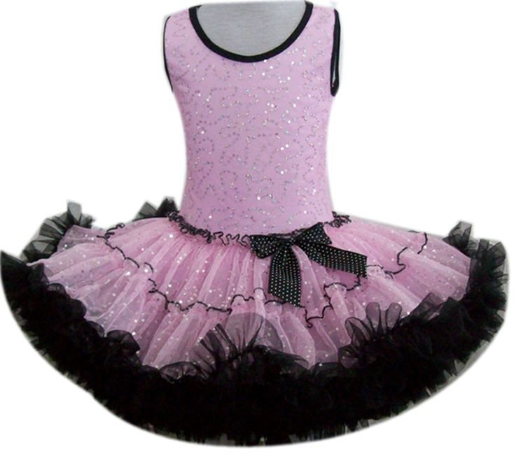 Pink & Black Sequin Dress (xsmall)