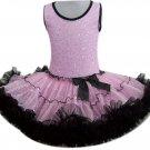 Pink & Black Sequin Dress (large)