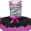 Hot Pink & Zebra Pettidress (xsmall)