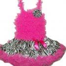 Hot Pink & Zebra Full Ruffle Pettidress (xsmall)