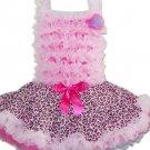 Pink Leopard Full Ruffle Pettidress (xsmall)