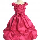 Fuschia Taffeta Flower Bubble Dress (4)