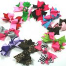 Lime Green & Hot Pink Boutique Knot Bows