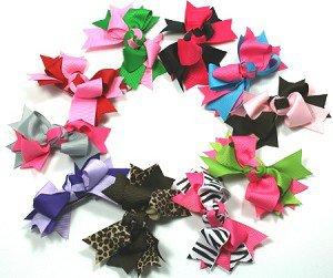 Zebra & Hot Pink Boutique Knot Bows