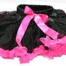 Black & Hot Pink Two-Tone Pettiskirt (large)