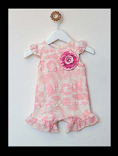 Tiny Trousseau Strawberry Mousse Romper (6-9 months)