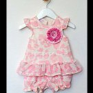Tiny Trousseau Strawberry Mousse Top & Diaper Cover (6-9 months)