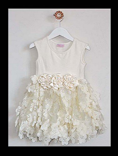 Tiny Trousseau Ivory Blooms Dress (4-6years)