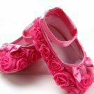 Hot Pink Rosette Baby Shoe (3)