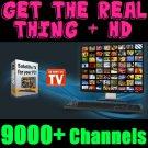 HD TV SOFTWARE 9000+ Satellite Channels! box dish lnb