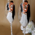 Hand painted Wedding Toasting Flutes Set of 2 Personalized