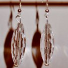 Teardrop Earrings Long clear oval teardrop earrings