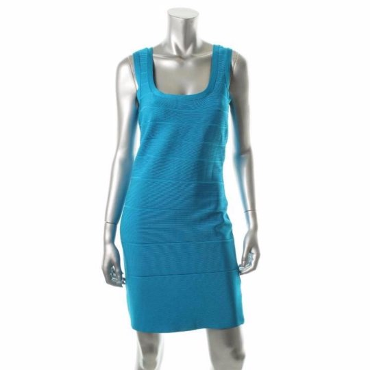 Calvin Klein Classic Sheath Dress Caribbean Blue Size Medium