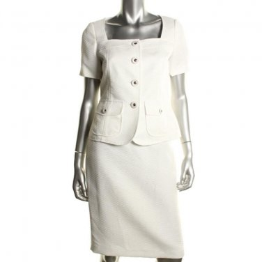 Women's Spring Summer Suit Le Suit SALE White Textured Size 14-16