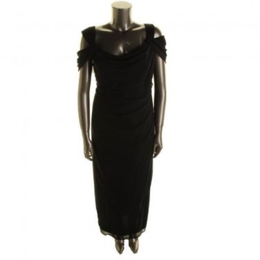 Sale Black Evening Dress Alex Evenings Gown Size 6
