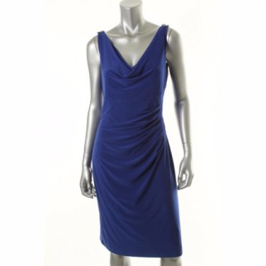 Ralph Lauren Dress SALE Special Occasion Party NWT Sapphire Blue Size 10